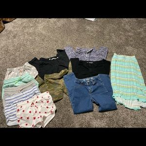 Lot of girl's shorts and pants